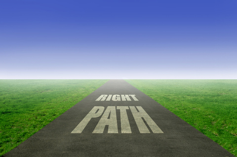 What is the right path? © Charlieaja | Dreamstime.com